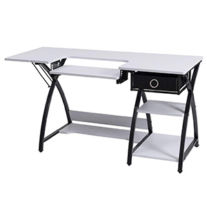 Costway Adjustable Sewing Craft Table